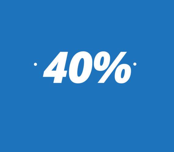 40% de réduction, longue séjour
