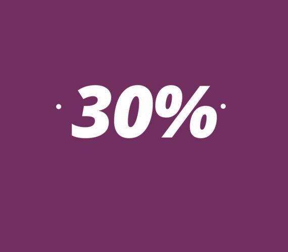 30% de réduction pour sejour a partir 14 nuits