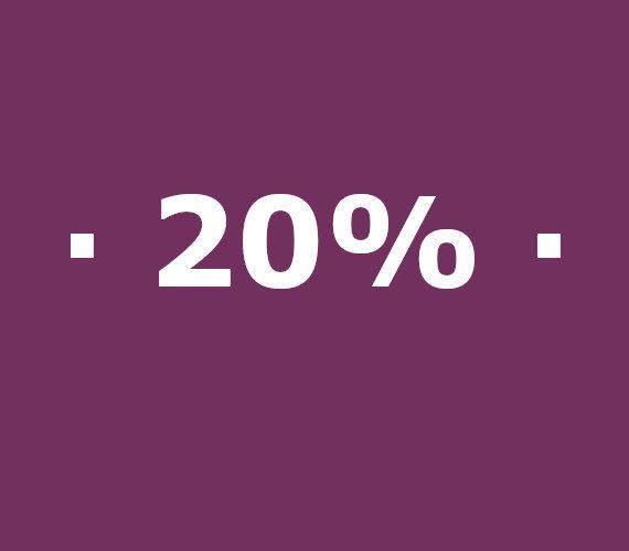 Réservation de 14 à 20 nuits 20% de réduction