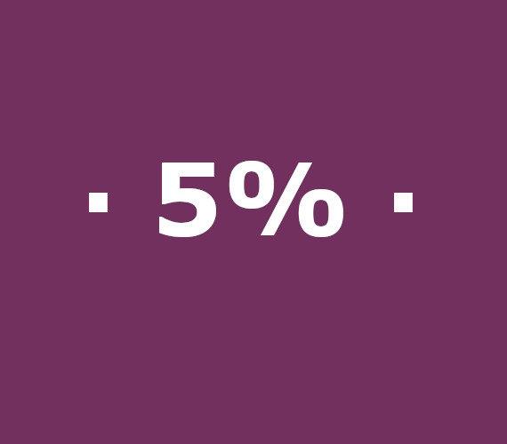 Réservez tôt 5% de réduction en haute saison
