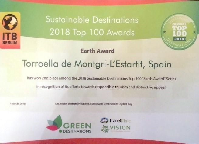 Torroella de Montgrí-L'Estartit catalogué comme le numéro deux au Top 100 des destinations soutenables