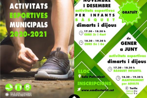 Activités sportives municipales à l'Estartit 2020-2021 – Novembre 2020